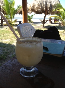 a working lunch in Barranquilla complimented with a coconut lemonade.
