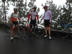 beyond Bocaron, with a few comrades as we got caught in the rain, Jan 2014,,, a long-time friend, riding  partner, and good builder of cycles took the pic