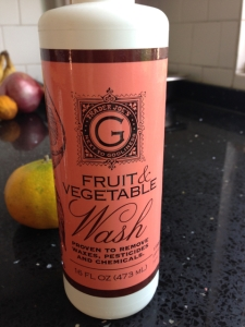 there are lots of different versions of natural fruit and vegetable wash, but not so easy to find where washing is not deemed important