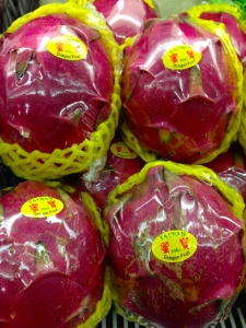 Dragon fruit from Taiwan, just down the road a piece