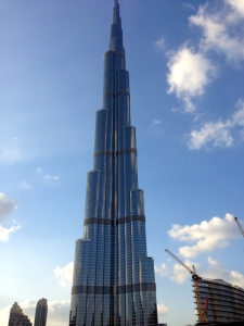 could not capture the full height of Burj Kalifa, world's tallest building