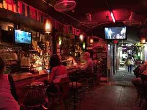 one of the many bars along a small alley behind Sukhumvit Road