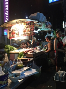 roadside restaurant, one of the many, in Soi 11 of Sukhumvit