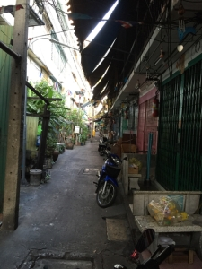 one of the wider alleys