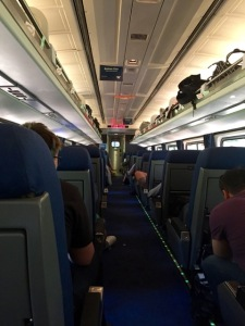 Amtrak's business class last month over 4th July weekend.