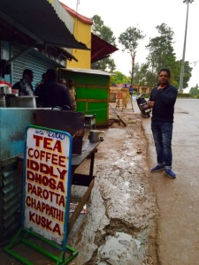 morning roadside refreshments in Ooti