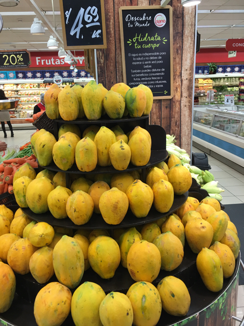 these papayas are a lot larger than they appear, and so so sweet.