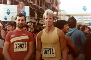 with friend about to run Danville 10k, age 30