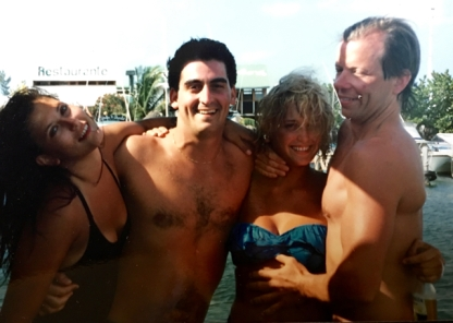 with my good friend Russell and a couple new friends during a tequila infused weekend in Cancun