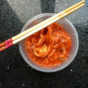 It was a full pint of spicy kimchee, devoured in a matter of minutes