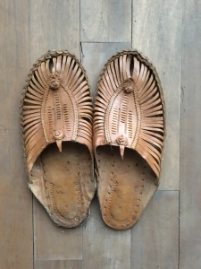 Indian slip-ons, also purchased at Bangkok weekend market, in liu of beaters.