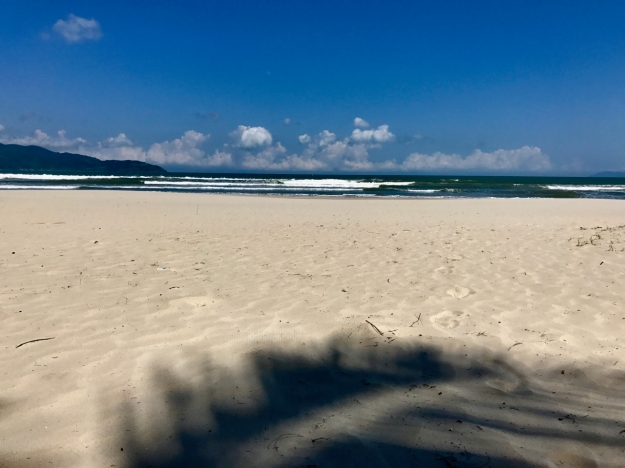Had a nice morning nap on the beach in Da Nang before leaving VN. S stayed back in Hoi An.