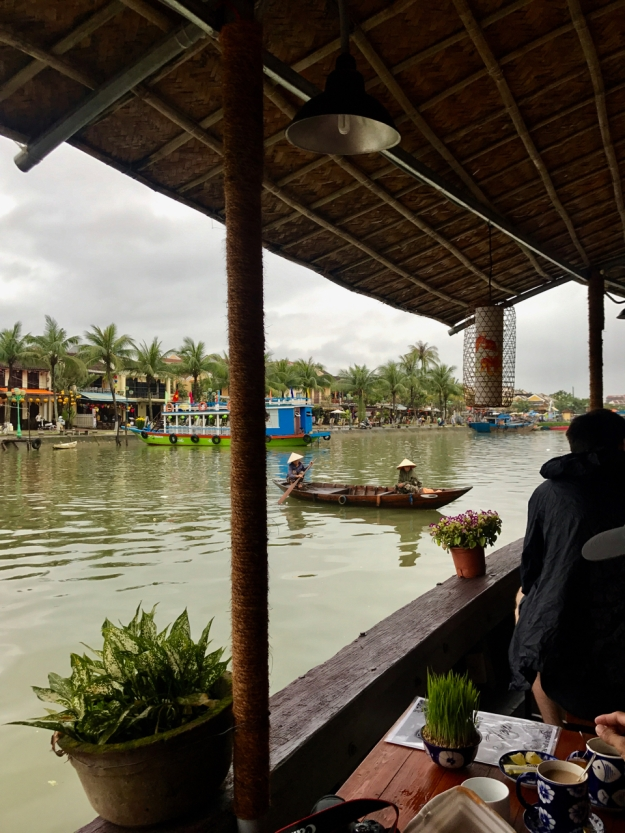 Coffee break on the Hoi An river