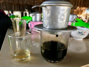 southern Vietnam drip coffee served with tea