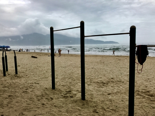 my workout area in Da Nang, what was called China Beach during VN war days -- rest area for US troops
